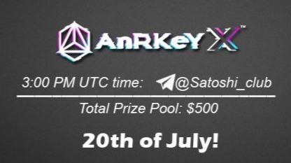 AnRKey x Satoshi Club AMA Recap from 20th of July