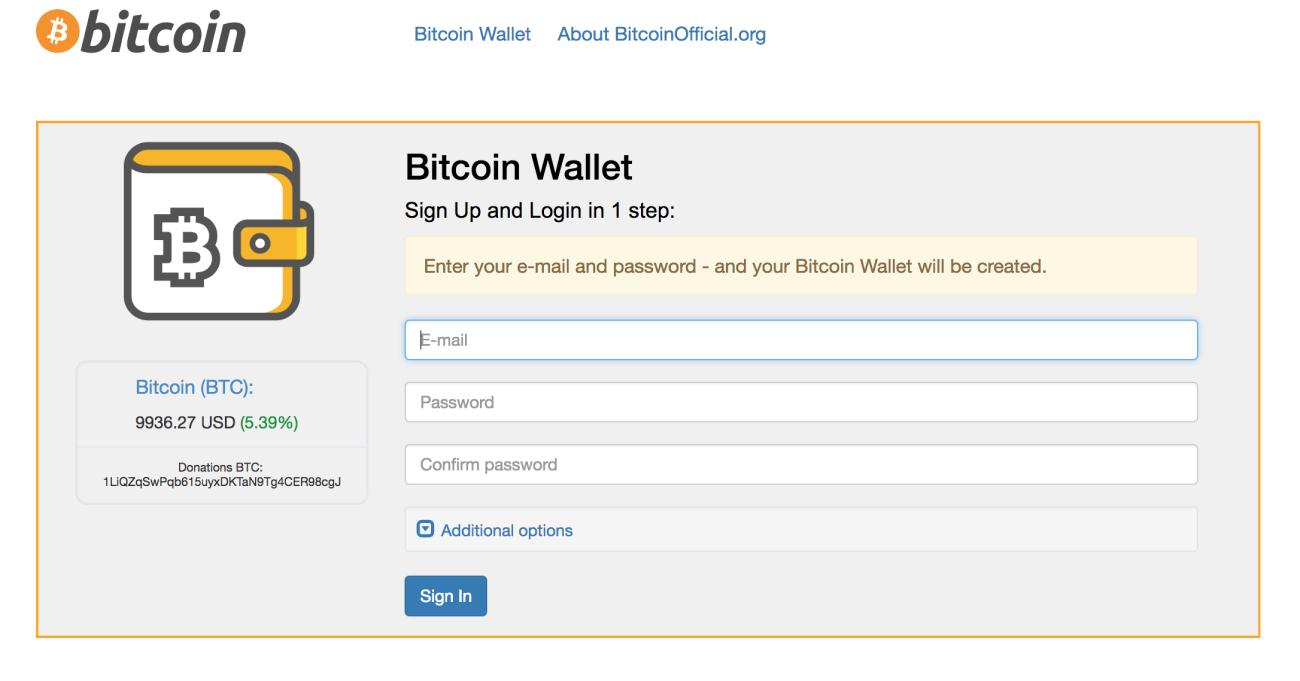 btc account sign up