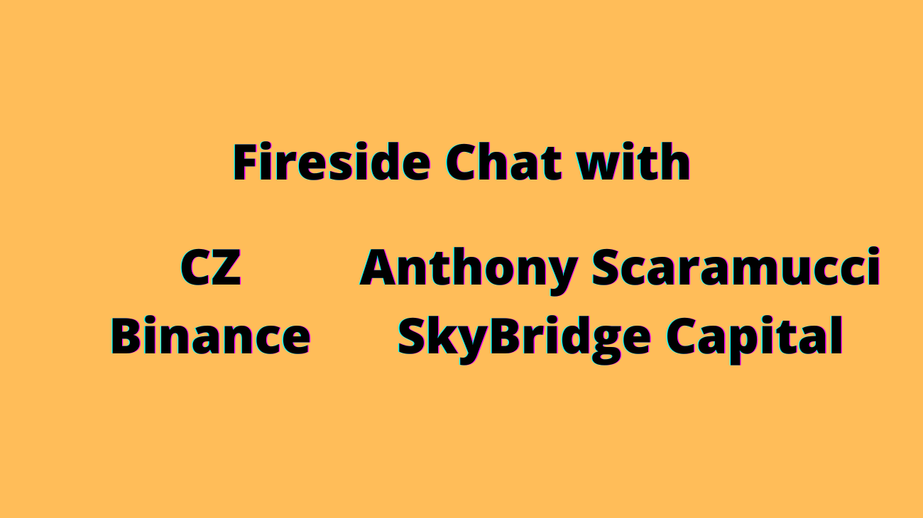 CZ & The Mooch - A Fireside Chat about Bitcoin and other things.