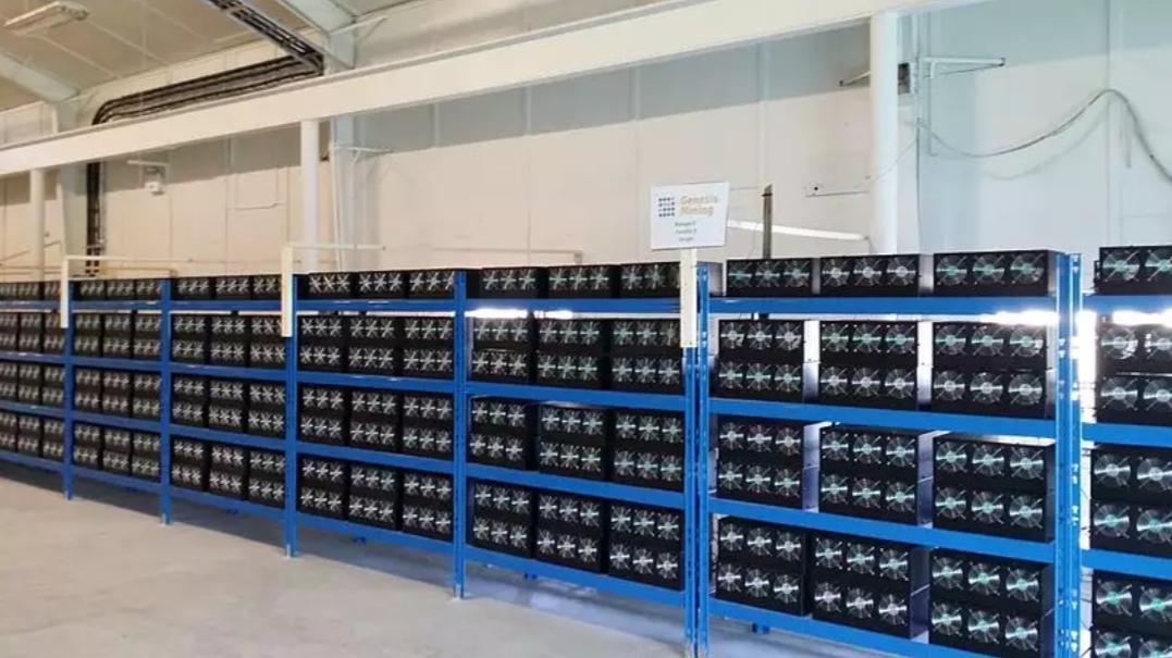 A cryptocurrency mining farm