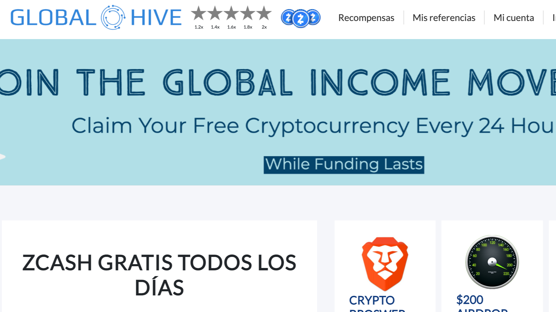 Globalhive: small tips every day in ZEC (zcash)