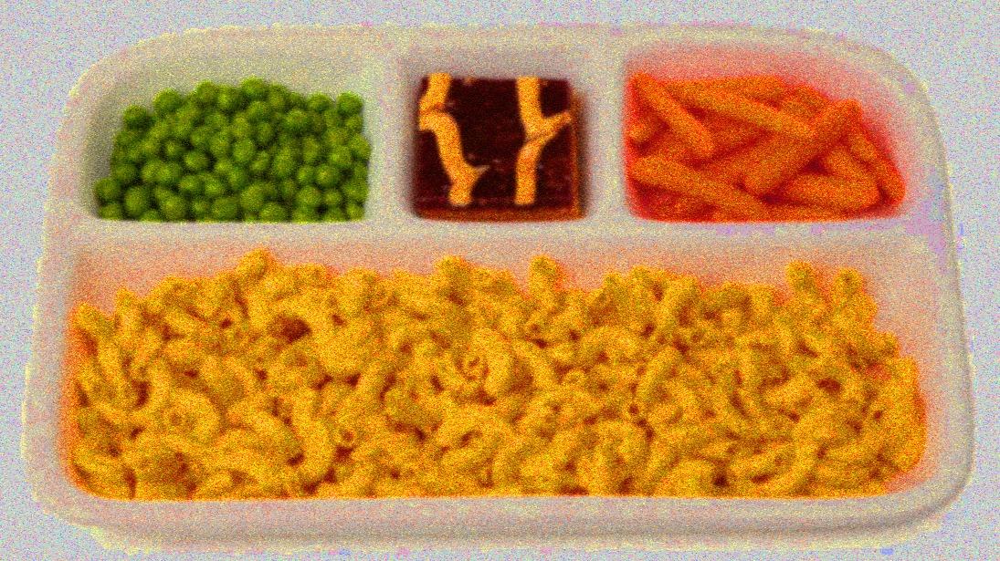 Noisy hued dinner tray