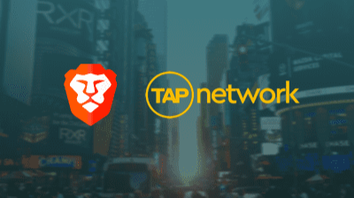brave collaboration with TAP network
