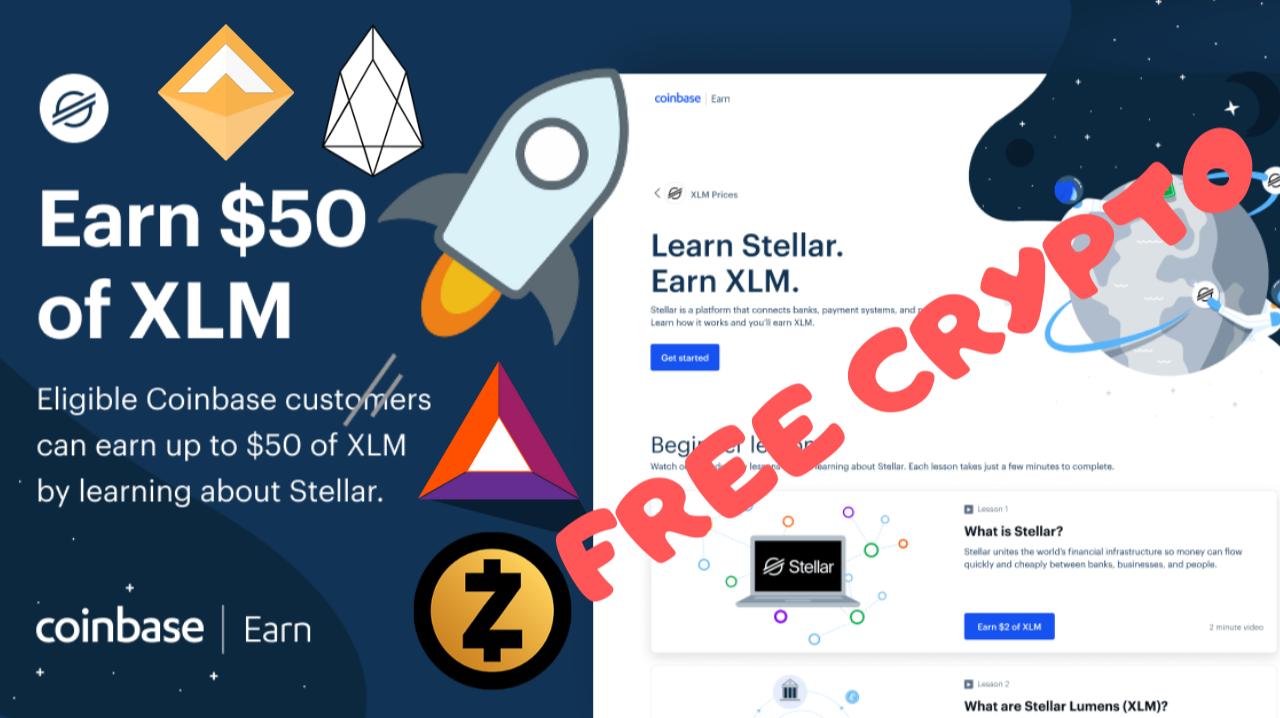 earn free crypto on coinbase