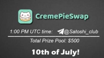 AMA Satoshi Club x CremePieSwap, July 10th