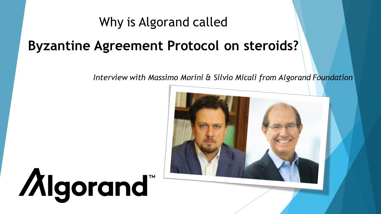Algorand is Byzantine Agreement Protocol on steroids