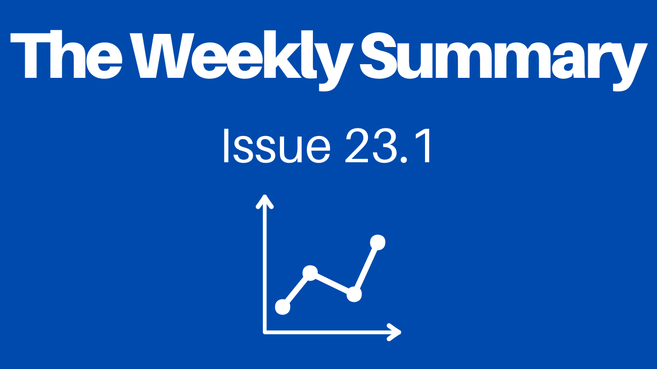 Learn about learning by reading the Weekly Summary.