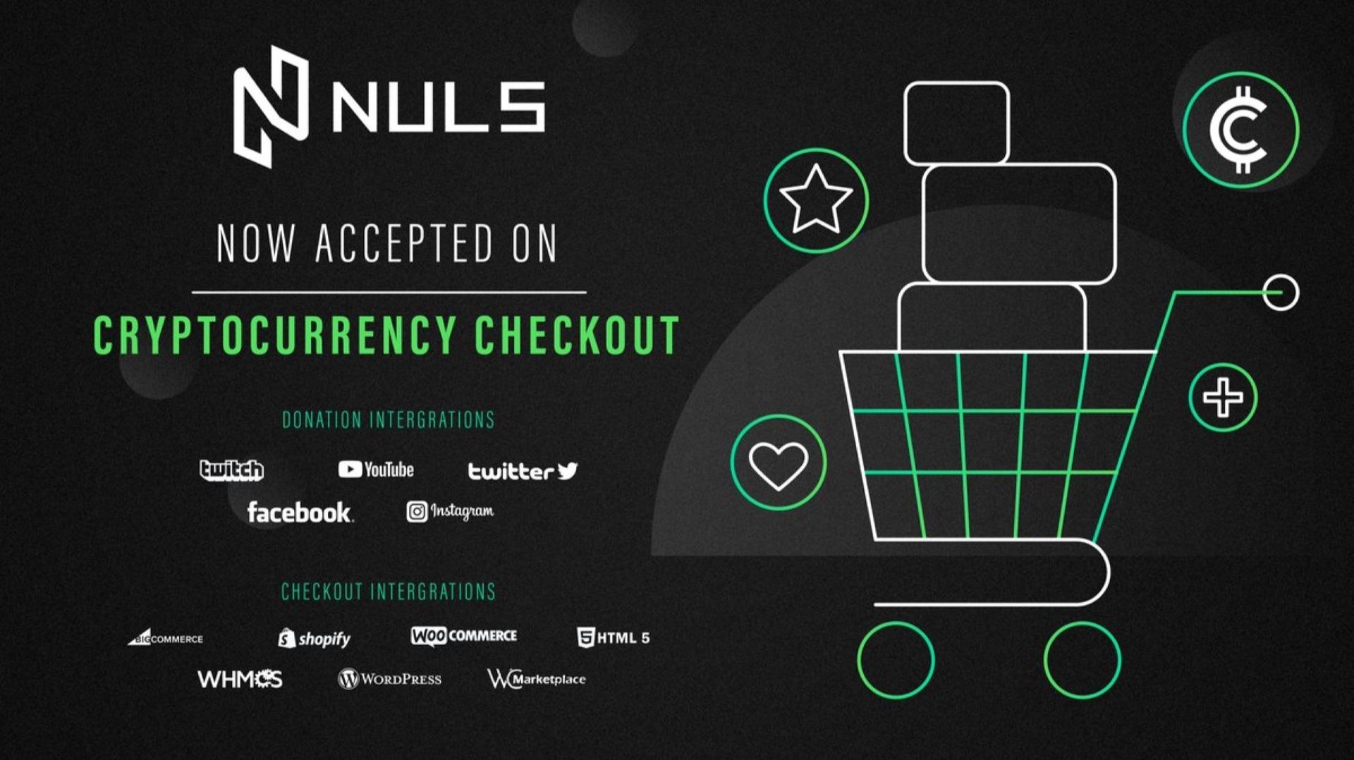NULS è stato integrato con @crypto_checkout