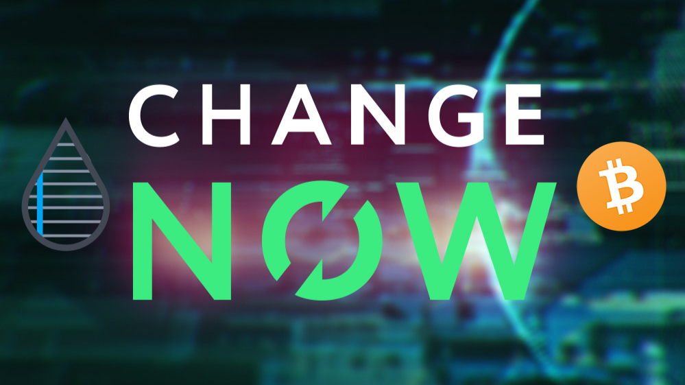 ChangeNOW GFX via masterthecrypto w/ Publish0x logo and Bitcoin logo PNG overlays