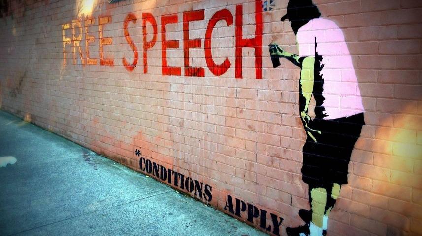 Free speech (with conditions) graffiti gfx