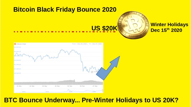 BTC Bitcoin Bounce to 20K Pre_Winter Holidays