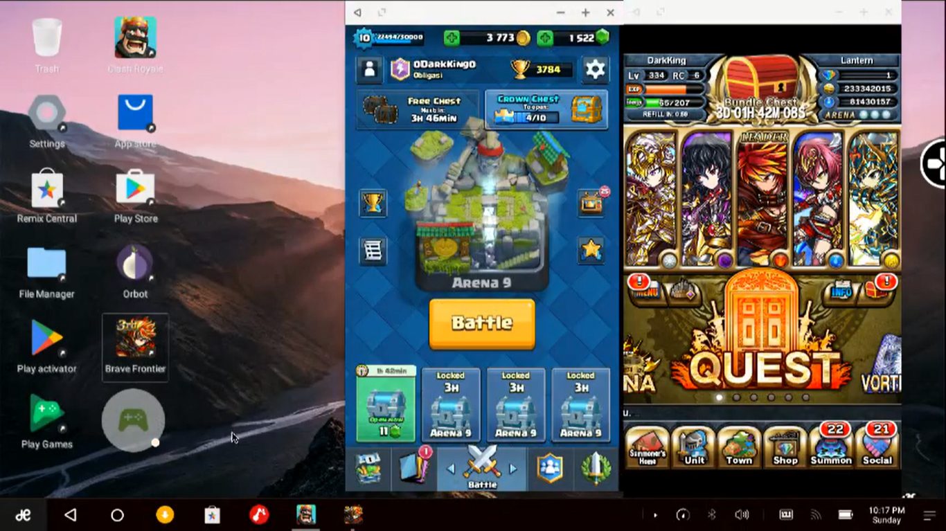 multiple android games simultaneously