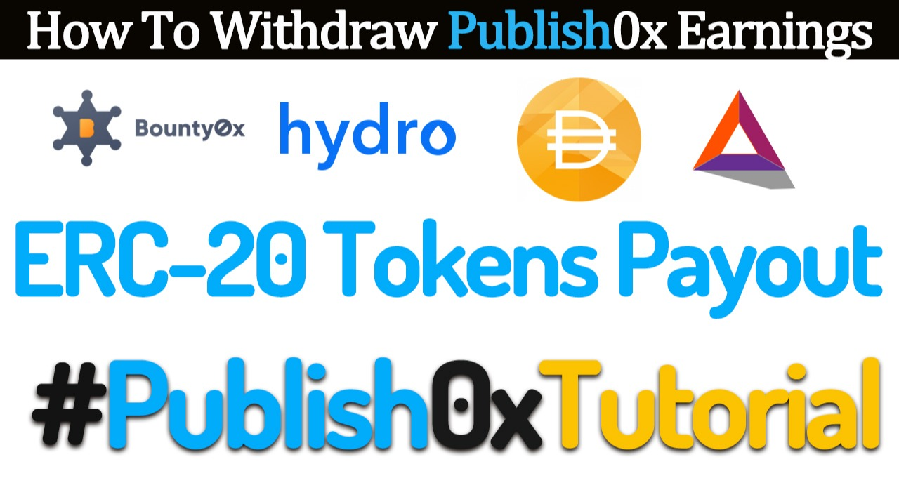 Publish0xTutorial How to Withdraw Your Publish0x Earnings into Your MyEtherWallet