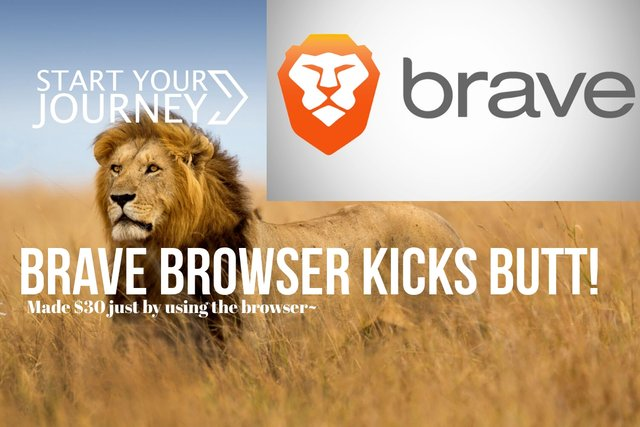 Brave browser kicks butt! Made $200 just by using the browser~