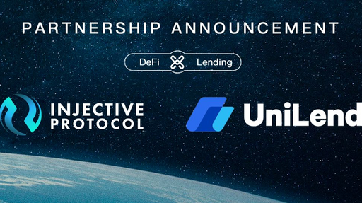 My favorite DEFI project Injective Protocol partnered with the power protocol Unilend for more yield farming opportunities