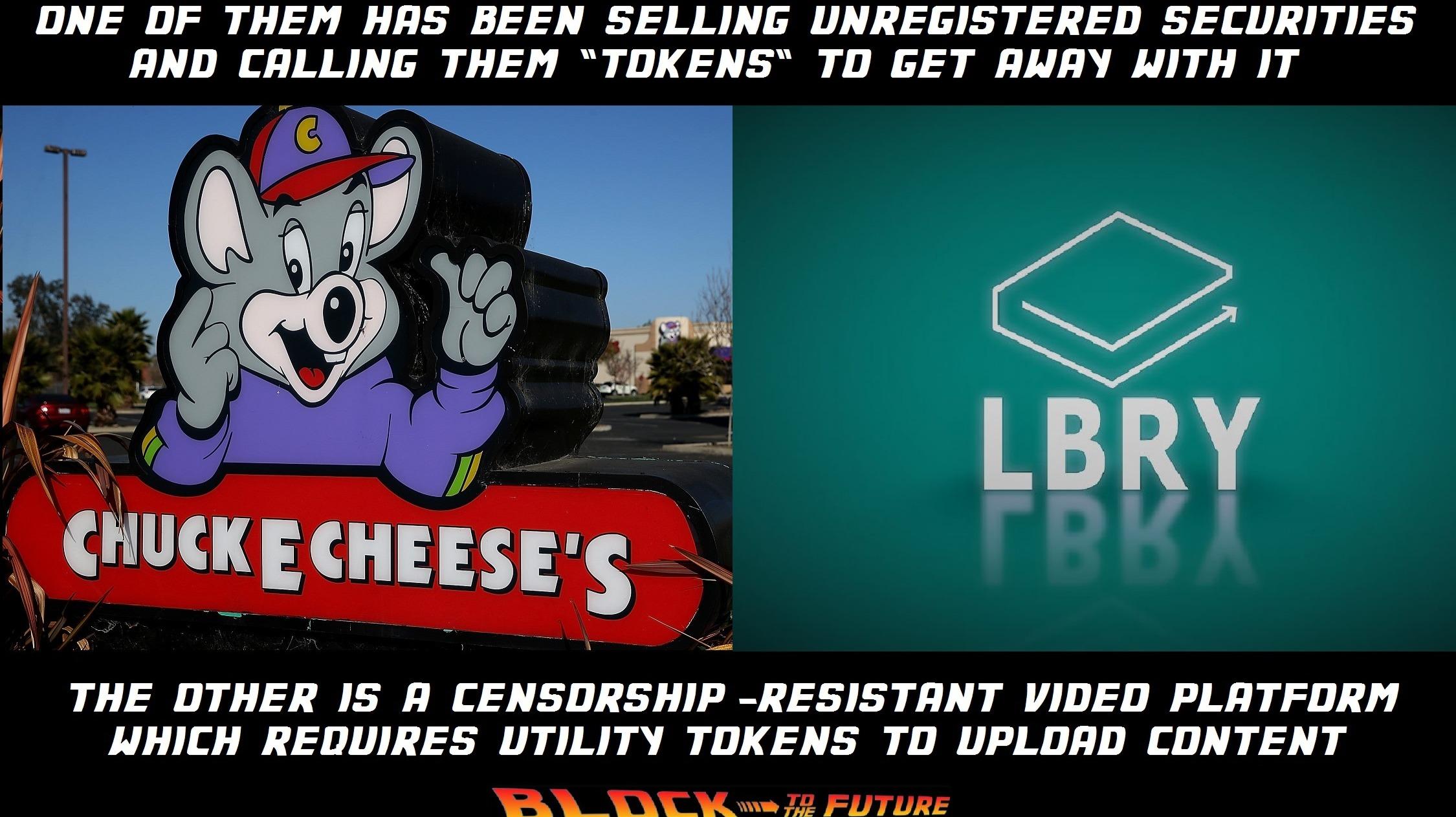 LBRY versus chuck e cheese's
