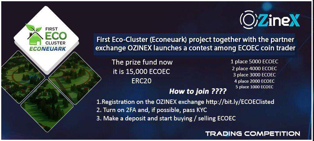 ECOEarthCoin $1000 USD Trading Competition