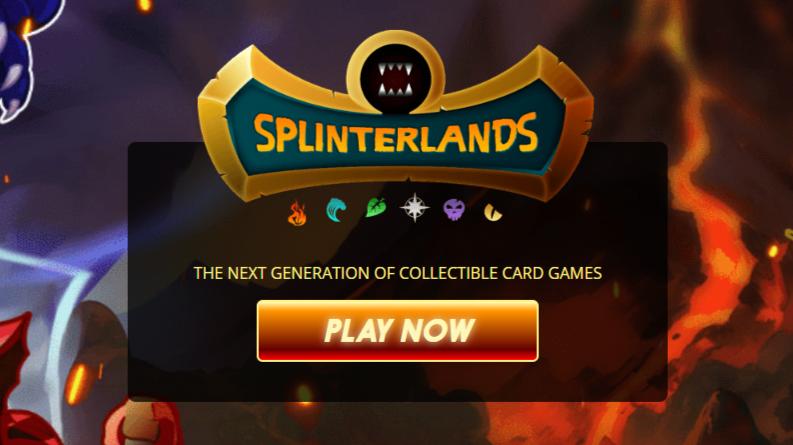Splinterlands landing page