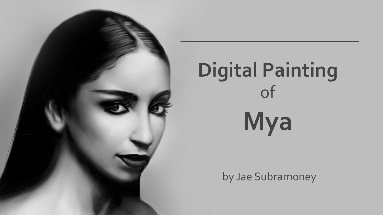 Digital Portrait Drawing of Mya