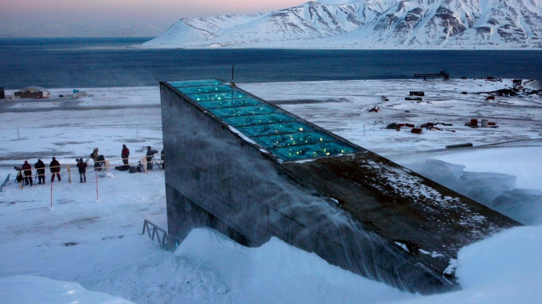 The global seed vault. Not far from the location of the GitHub archival location.